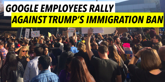 Rally at Google against Trump Immigration Ban